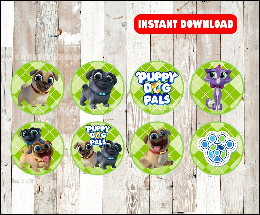 Puppy Dog Pals toppers instant download Puppy Dog Pals