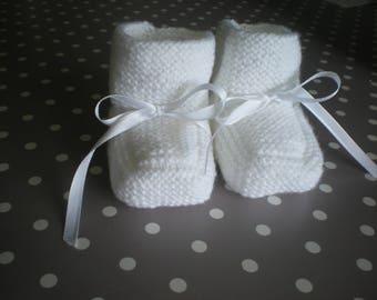 Baby booties 0-3 months baby handmade new