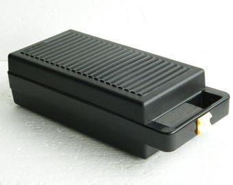 Cassette tape holder, cassette case, Vintage, Tontarelli, for 12 cassette tapes, black