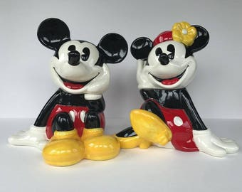Mickey and Minnie Mouse Ceramic Cookie Jars - Treasure Craft - Mickey & Co.