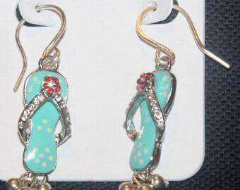 Blue Flip Flo Earrings