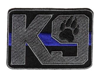 Police K-9 Thin Blue Line Patch