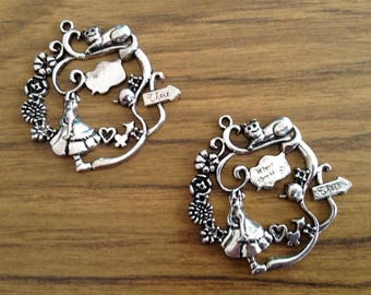 Large Alice In Wonderland Charms x2