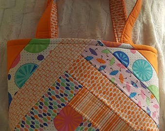 Raindrops Tote in Sunny Orange