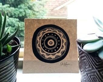 Mandala Relief Print