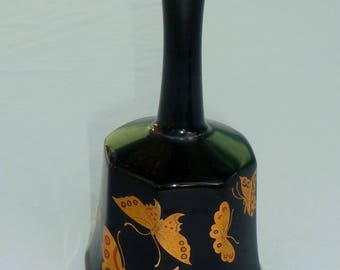 vintage china dinner bell with gold butterflies