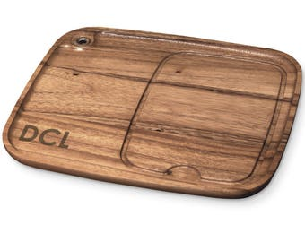Personalized Acacia Wood Steak BBQ Plate   BBQ Fans