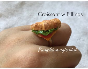 Delicious Croissant Ring Choose from Chocolate topping or Fillings Miniature