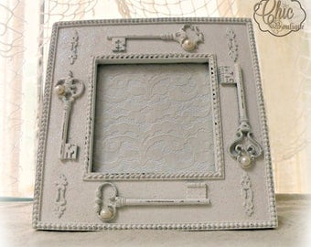 Key To Your Heart - Shabby Chic Photo Frame