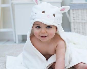 Personalised Snowdrop Kitten Baby Towel