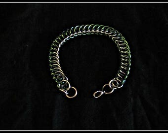 Mixed Green Persian Chainmail Bracelet
