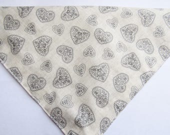 Rustic hearts    Dog bandana