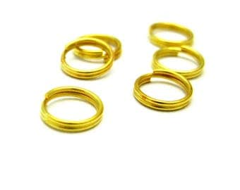 set of 50 double ring 7mm gold
