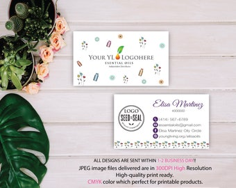 YL Business Card, Custom YLEO Card, Fast Free Personalization, Essential Oil Business Card, Printable Business Card YL14