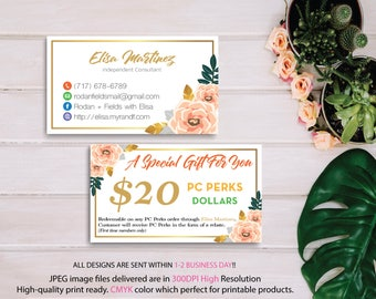 Rodan and Fields PC Perks Dollars, Rodan and Fields Business Cards, Rodan And Fields Fast Personalized, Custom Business Cards RF11
