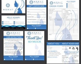 Sales!! Monat Marketing Kit, Custom Monat Business Card, Personalized Monat Hair Care, Monat Global Marketing Cards, Printable Card MN10