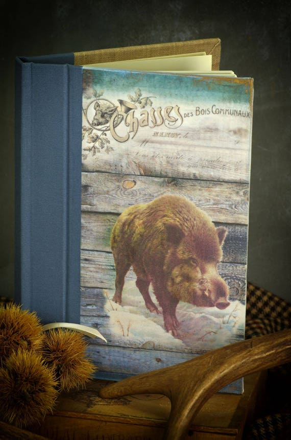 "Personalized hunting book ""boar"" Huntress Hunter hunting hunting hunting wood"