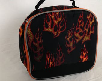 Flame fire lunch bag