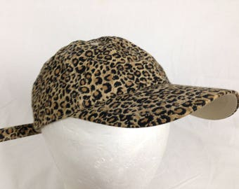 cheetah leopard strap back hat