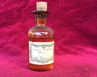 ancien flacon alcool styrallylique A.VERLEY - bouteille de collection, old bottle styrallyl alcohol A.VERLEY - collection bottle