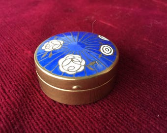 Parfumerie Houbigant ancienne boite à fard miniature_Perfumery old miniature paint box_Vecchia scatola di colori della profumeria