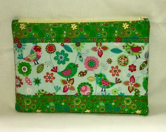 Cosmetic, Zippered, Accessory Bag