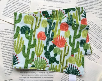 Large Bag - Cactus/Succulents Flannel Pattern