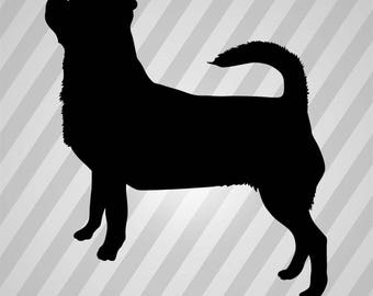 chihuahua Silhouette - Svg Dxf Eps Silhouette Rld RDWorks Pdf Png AI Files Digital Cut Vector File Svg File Cricut Laser Cut