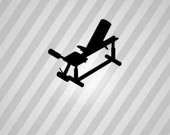 Weight Lifting Bench Silhouette Weights - Svg Dxf Eps Silhouette Rld Pdf Png AI Files Digital Cut Vector File Svg File Cricut Laser Cut