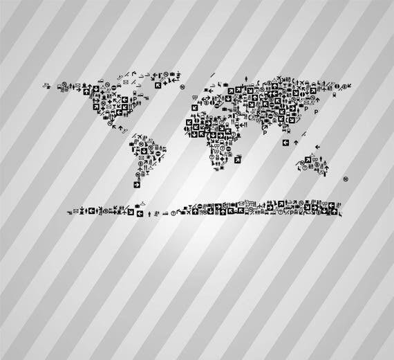 World map icons svg dxf eps silhouette rld rdworks pdf png ai world map icons svg dxf eps silhouette rld rdworks pdf png ai files digital cut vector file svg file cricut laser cut from donfarmermarket on etsy studio gumiabroncs Images