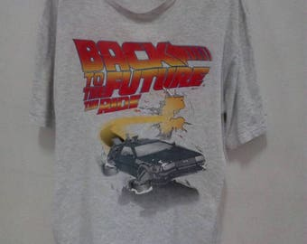 Rare!! Vintage 90s Universal Studios Back To The Future T Shirt The Ride Outatime