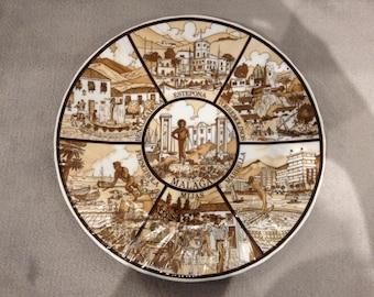 Costa Del Sol decorative plate - circa 1980s