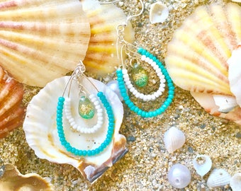 summer earring with drop (solanddc)