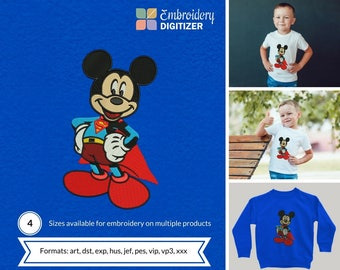 Superman Mickey Disney Embroidery Design - All Stitches