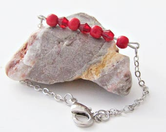 Rosaly Bohemian bracelet with semi-precious beads