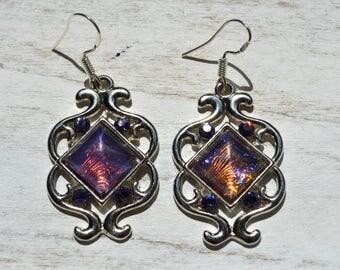 Earrings swirls and Swarovski - 925 Sterling Silver - gift idea