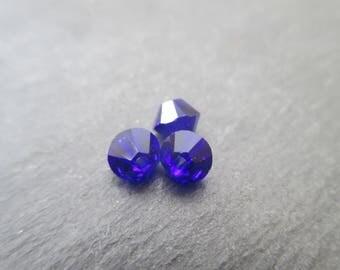 4 mm: 8 Swarovski Crystal bicone bead Cobalt Blue