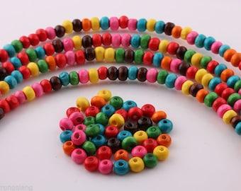 set of 300 wood 4 mm beads