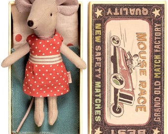 We love it! mouse, little character for Dollhouse doll, big sister in box, maileg