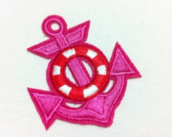 FABRIC FUSIBLE APPLIQUE: anchor pink 60 * 50mm