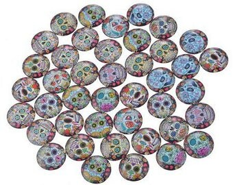 Cabochon Mexican glass 20 mm head