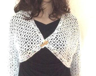 Bolero 3/4 sleeves sequin yarn
