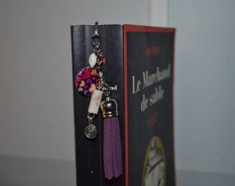 Purple tassel bookmark