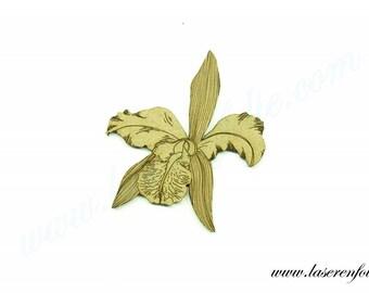Fleur de style Iris, réalisée en médium, taille 5cm