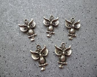 5 nugget charm silver 23 mm approx