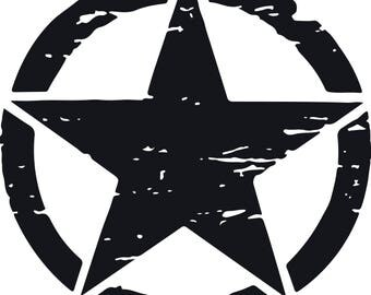 US Army Military Star Car Sticker Decal for Car - Truck - Ford F150 - Jeep Wrangler / 2 pcs