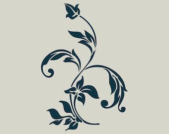Floral pattern. Stencil floral pattern. (Ref 388) adhesive vinyl stencil