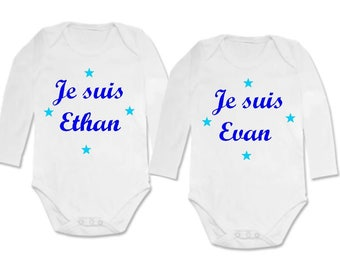 twin Bodysuit set I am and I'm personalized with name