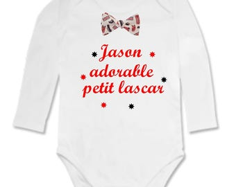 Adorable little man personalized with name Bodysuit