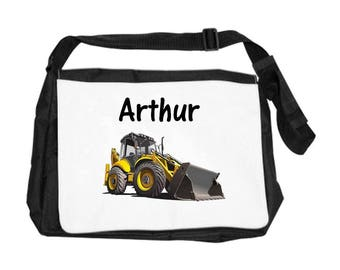 Backhoe bag personalized with name